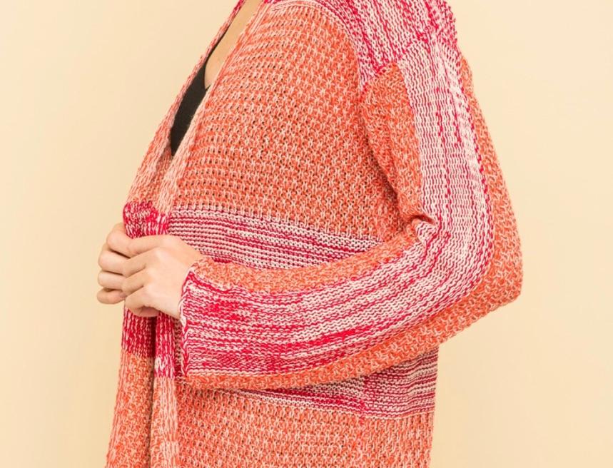Orange & pink Cardi