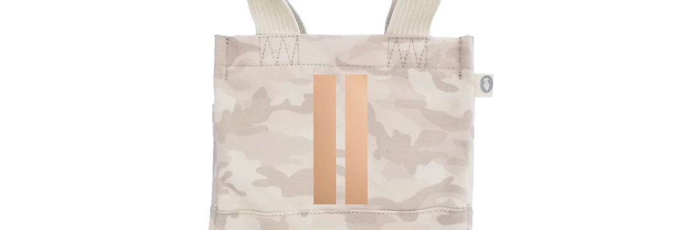 Blush Camo with rose gold double stripe crossbody
