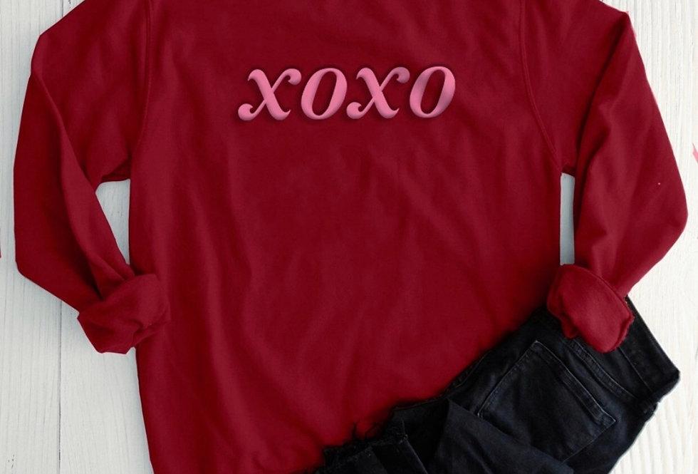 Puff Print XOXO Sweatshirt