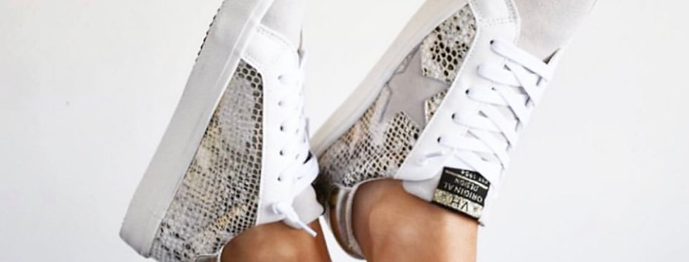 Snake Skin Star Sneakers