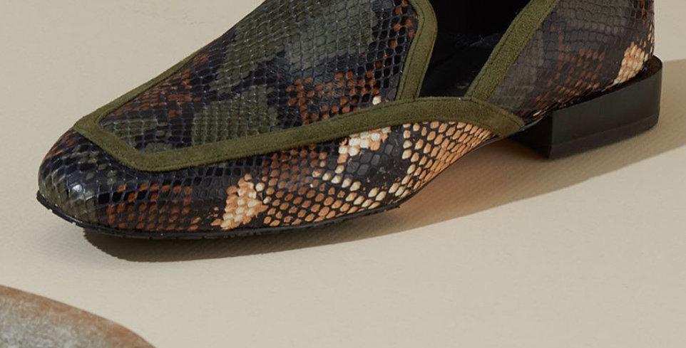 Multi Snake Skin Loafer