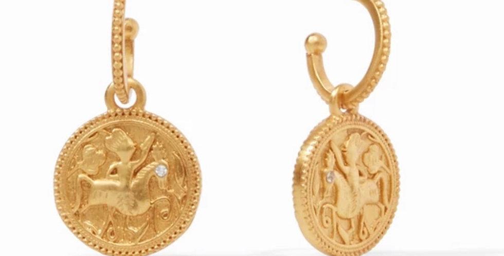Coin Hoop & Charm
