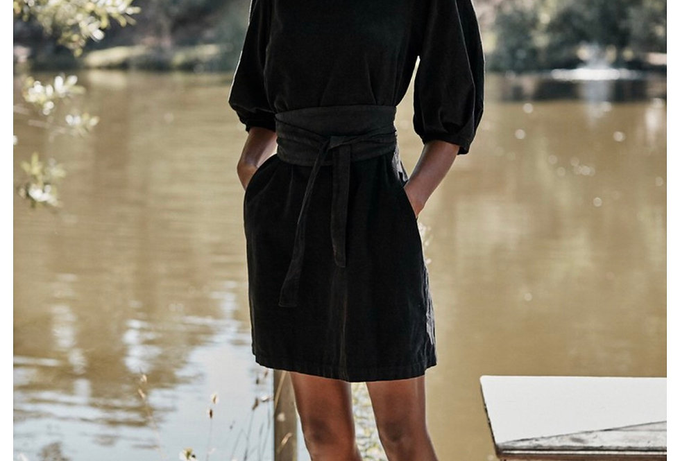 Corduroy Black Dress