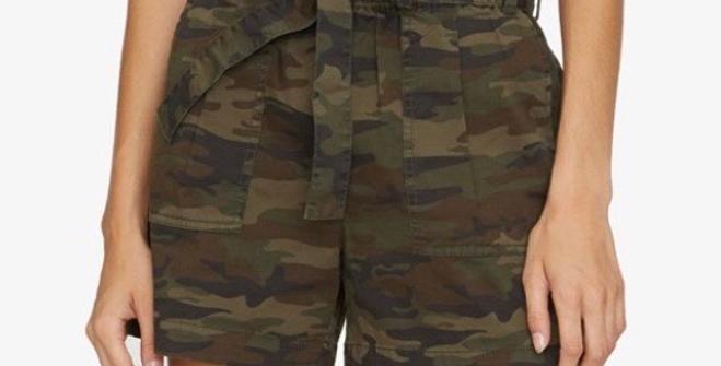 Camo Paperbag Shorts