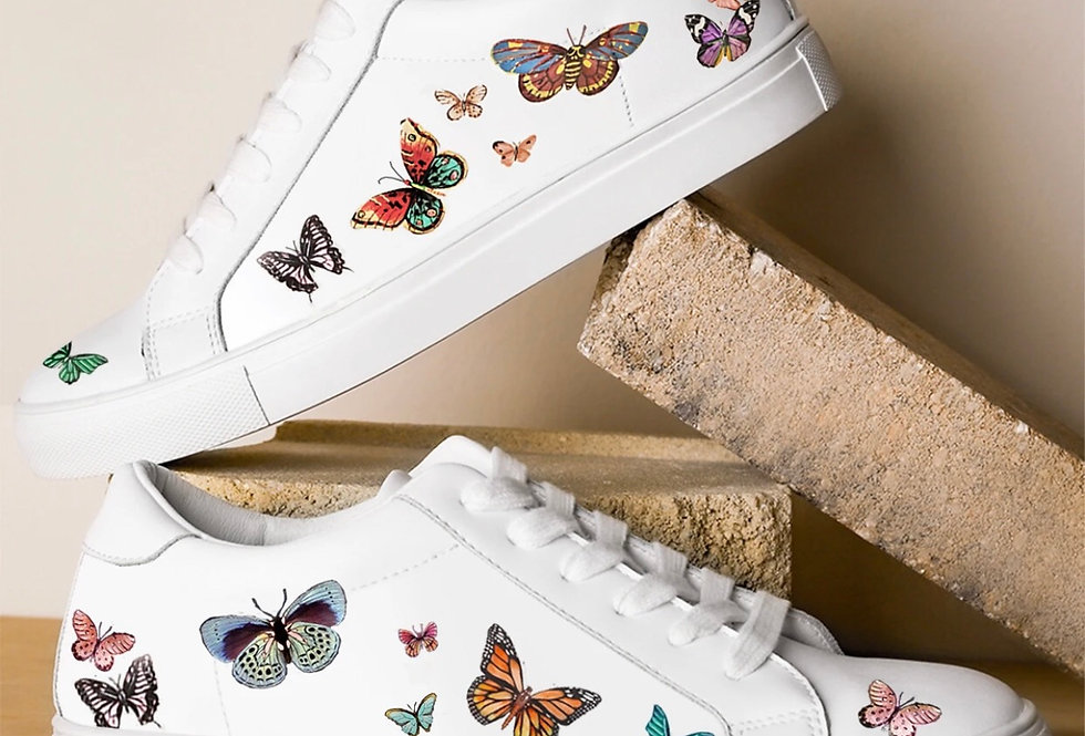 Hand Painted Butterfly Sneakers