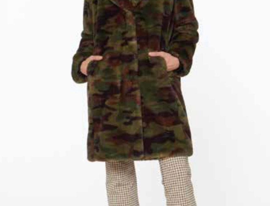 Camo Fur Coat
