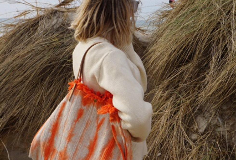 Orange Tie Dye Tote