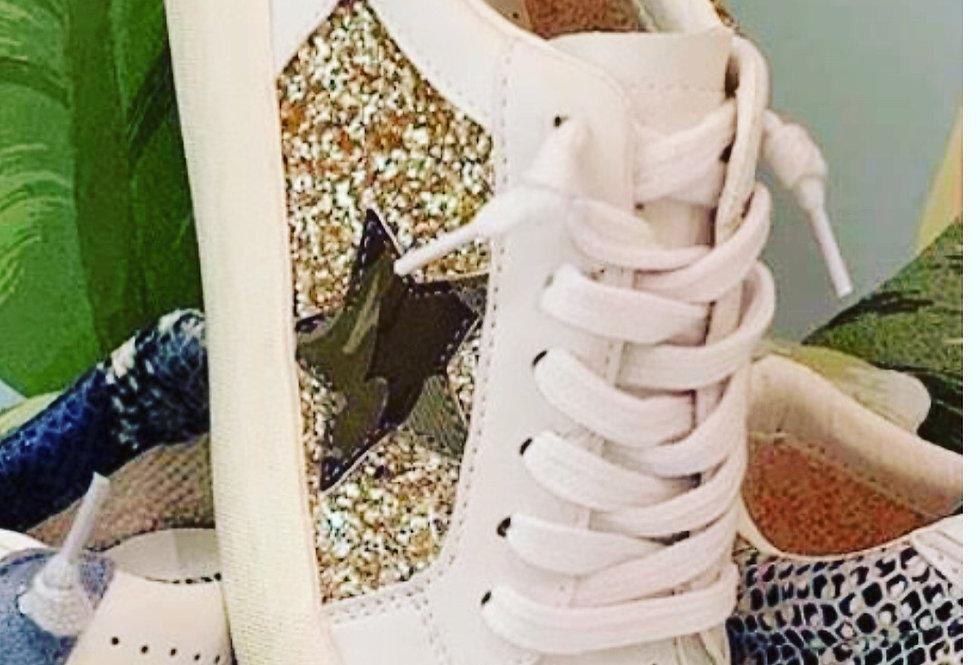 Glitter Camo Star Sneaker