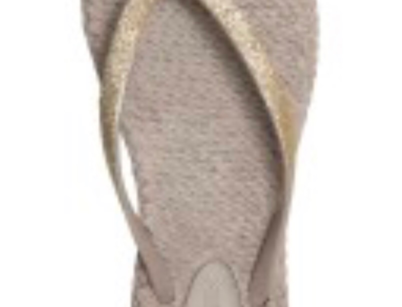 Light Brown Glitter Flii Flops