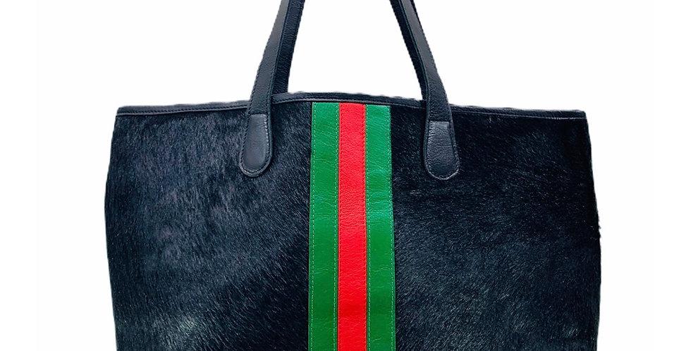 Black Hyde Gucci Inspired Stripe Tote