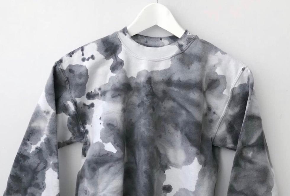 Black & Grey Tie Dye Sweatshirt