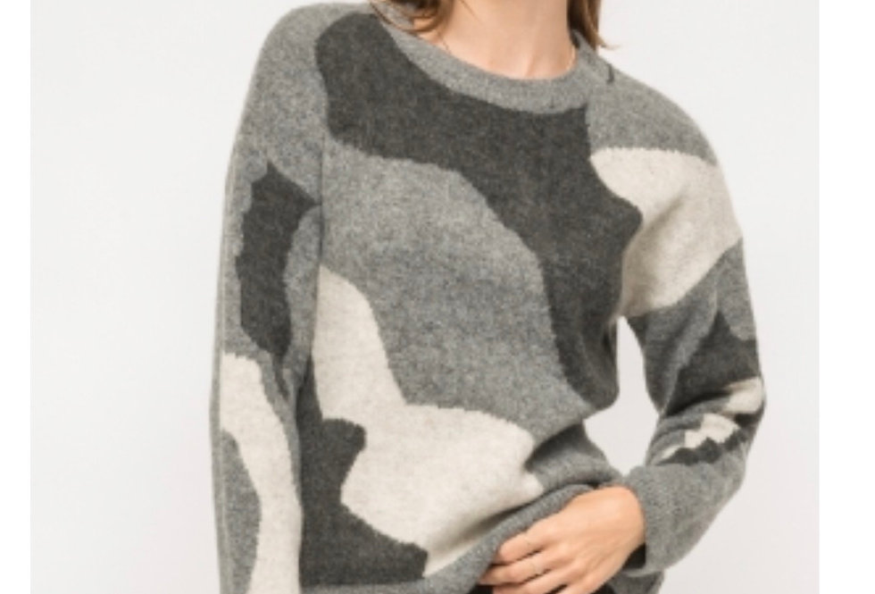 Camo Crew Sweater