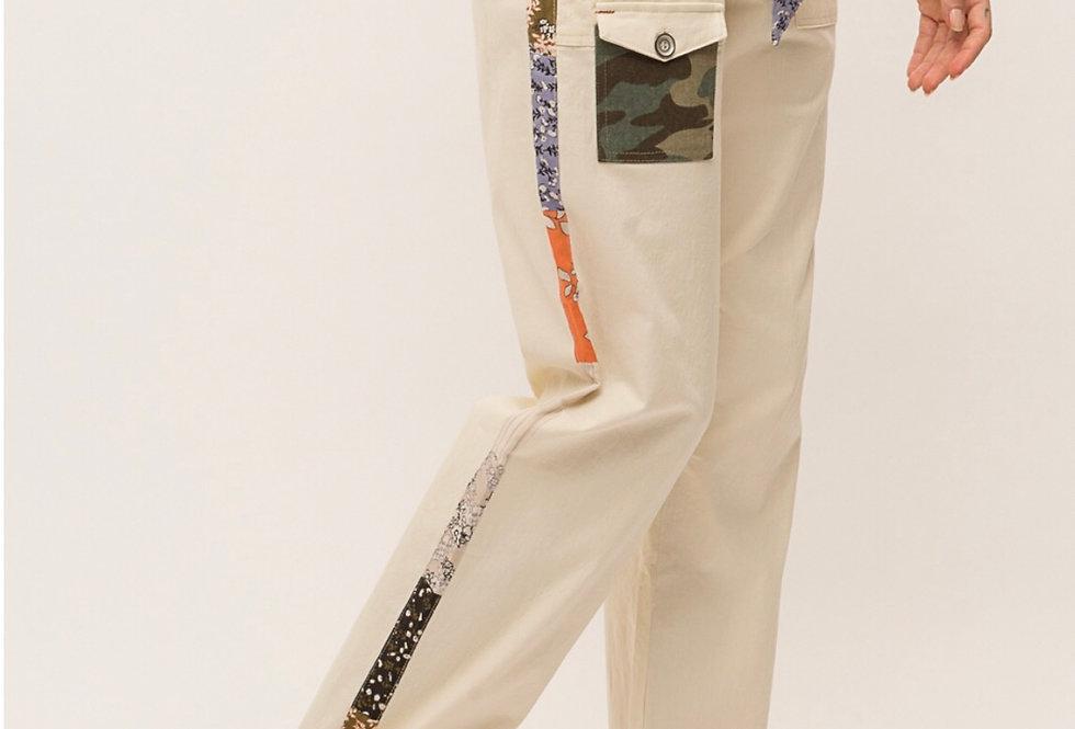 Printed Stripe Utility Pant