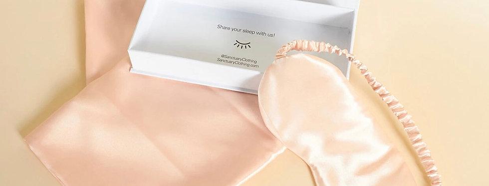 Pink Satin Pillow Case & Eye Mask Set (pre-order)