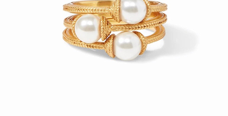 Calypso Pearl Stacking Ring Size 7