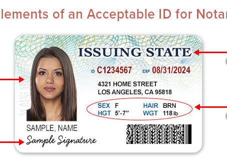 What type of ID is valid for notarization?