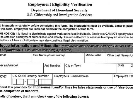 U.S. Citizenship and Immigration Services (USCIS) – Form I-9