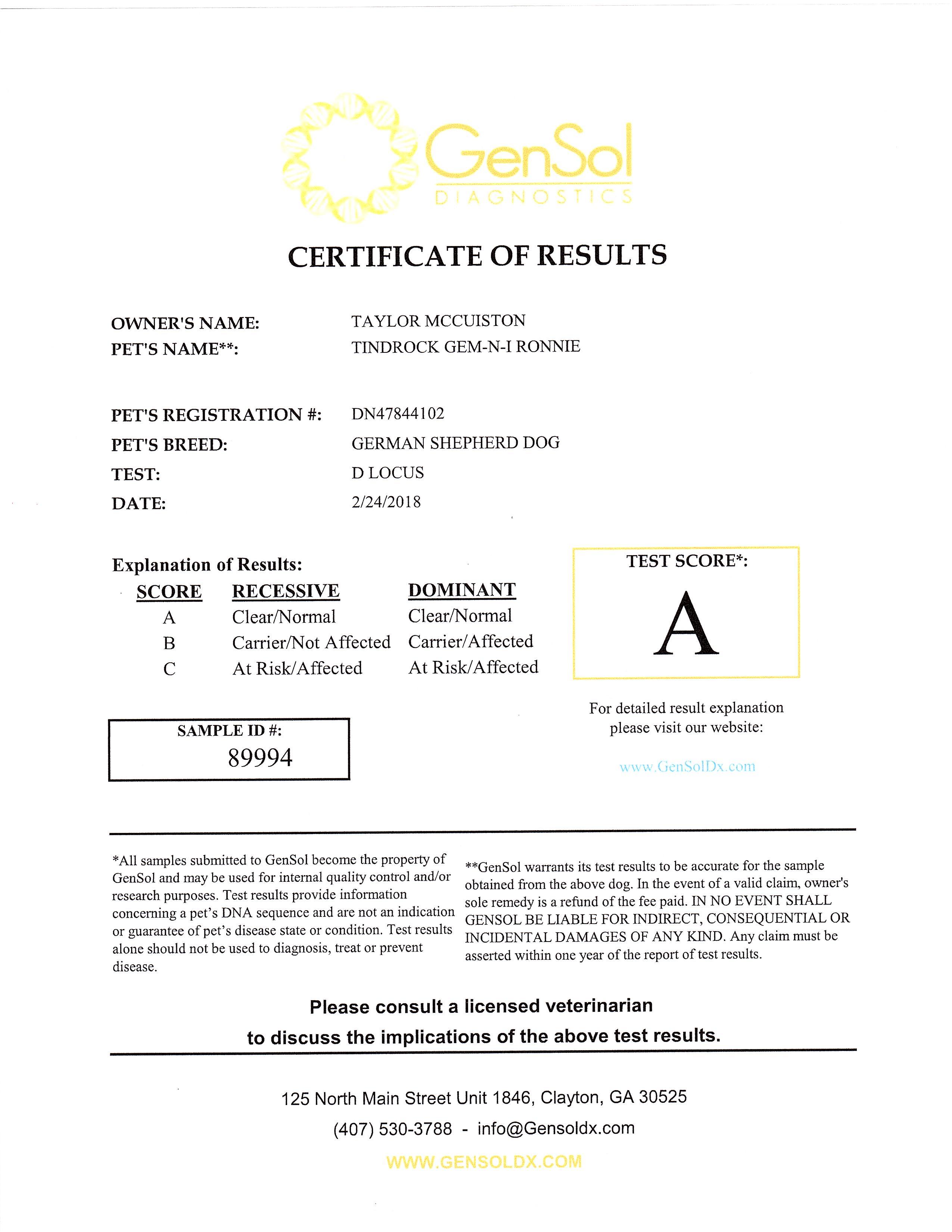 Farrah D Locus Results