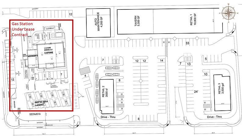 Siteplan Buffaloand Badura_Gas StationUn