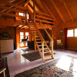 Vue mezzanine, salon cosy