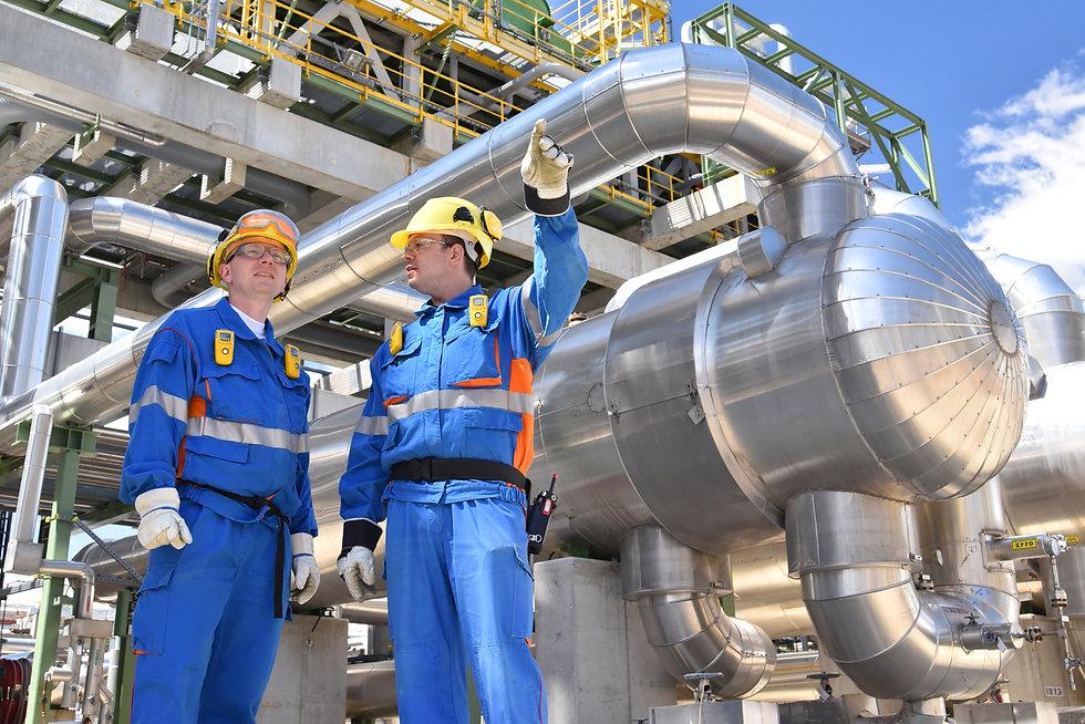 teamwork_ group of industrial workers in