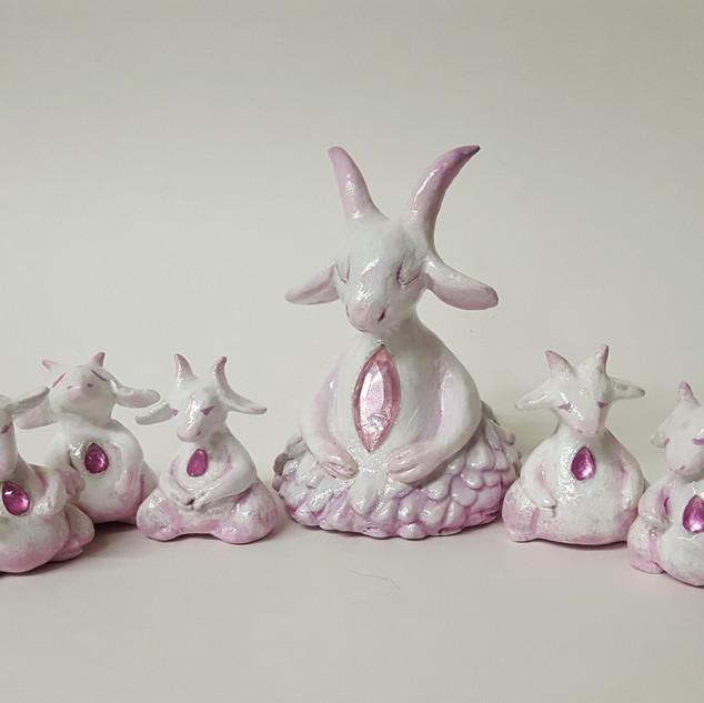 Mystic Mama Goat & Kids