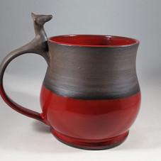 Jumbo Doe Mug in Red