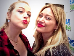 with Hilary Duff