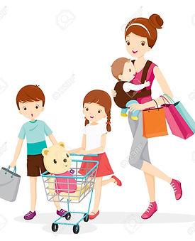55425130-mère-et-enfants-shopping-ensemb