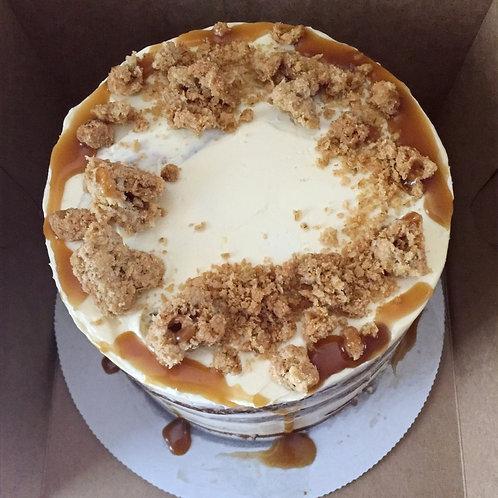 Brown Butter + Salted Caramel Cake