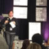 Ted Dekker speaking at te Ragged Edge Writers Confeence in 2015