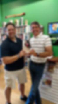 Jason E. Fort meeting a man whoshared the name of the namesake of Jason's first trilogy - John Knox himself!