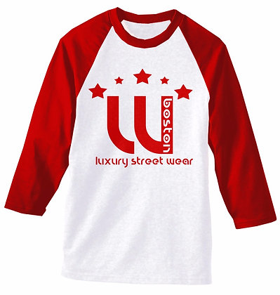 W BOSTON LUX WEAR RAGLAN (RED)