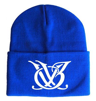 Bright Blue and White Logo Skull Cap