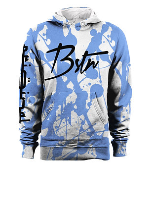 BSTN BLUE STEEL STAINED HOODIE