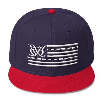 STARS N STRIPES NAVY/RED SNAPBACK