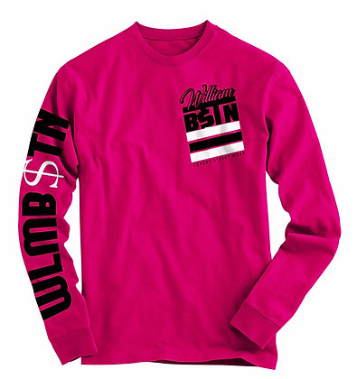 BSTN 3 Stripes Long Sleeve (Pink)