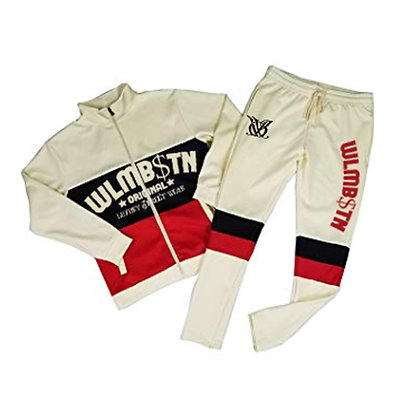 Block Boy Track Suit (Black,Red)