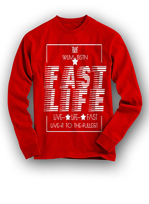 FAST LIFE LIVIN LONG SLEEVE RED