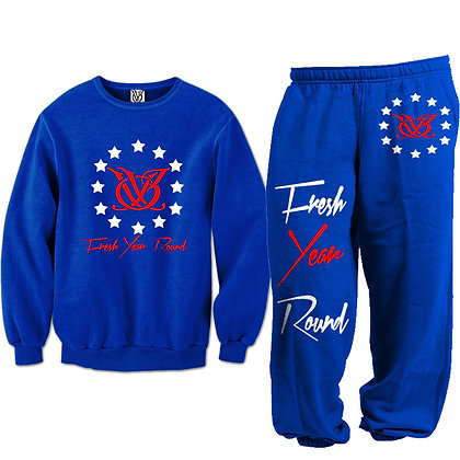 Fresh Year Round Sweat Suit (Blue)