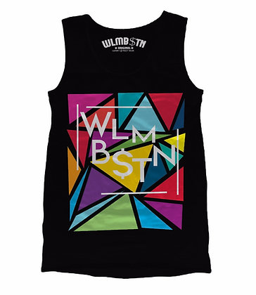 Triangular Maze Tank Black