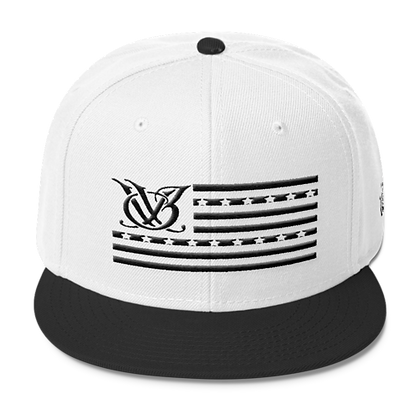 STARS AND STRIPES WHITE/BLACK SNAPBACK