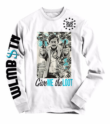 Give Me The Loot Long Sleeve (White)