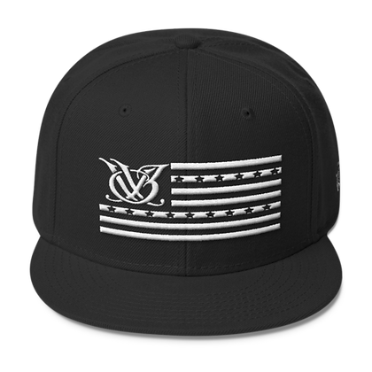 STARS N STRIPES BLACK SNAPBACK
