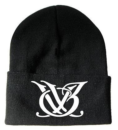 Black and White Logo Skull Cap