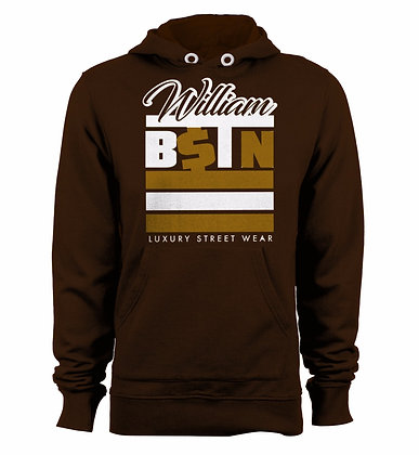 BSTN 3 Stripes Hoodie (Brown)