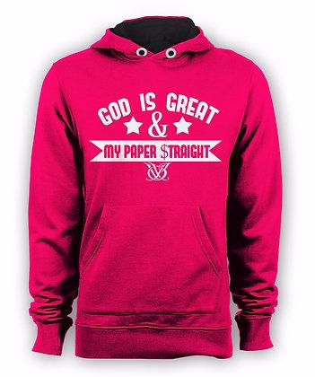 GOD IS GREAT HOODIE (PINK)