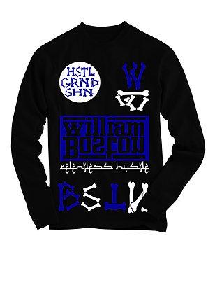 HSTL GRND SHN  BLACK W/BLUE WHT