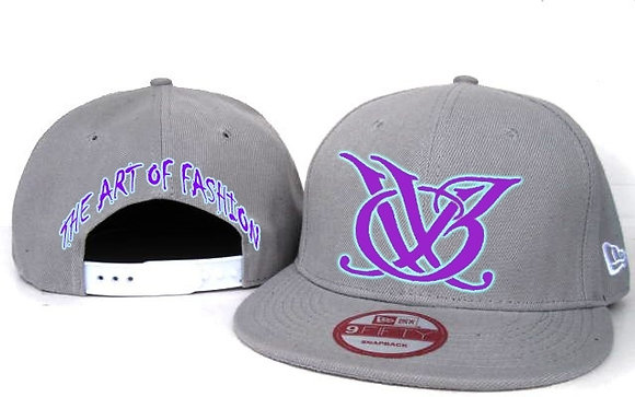 GREY AND PURPLE LOGO SNAP BACK