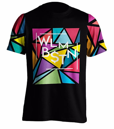 Triangular Maze Tee Black